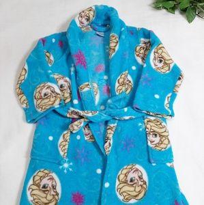Disney Frozen Elsa Belted Long Sleeve Cozy Robe XS